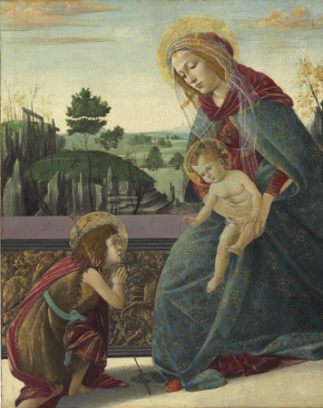 Botticellii_The Madonna and Child with the infant saint John the Baptist