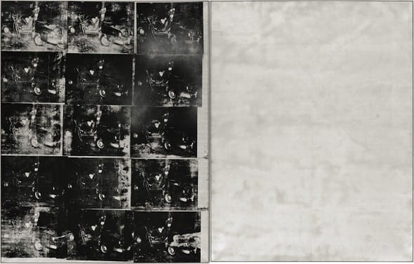 Andy Warhol top price  Silver Car Crash [Double Disaster] 1963