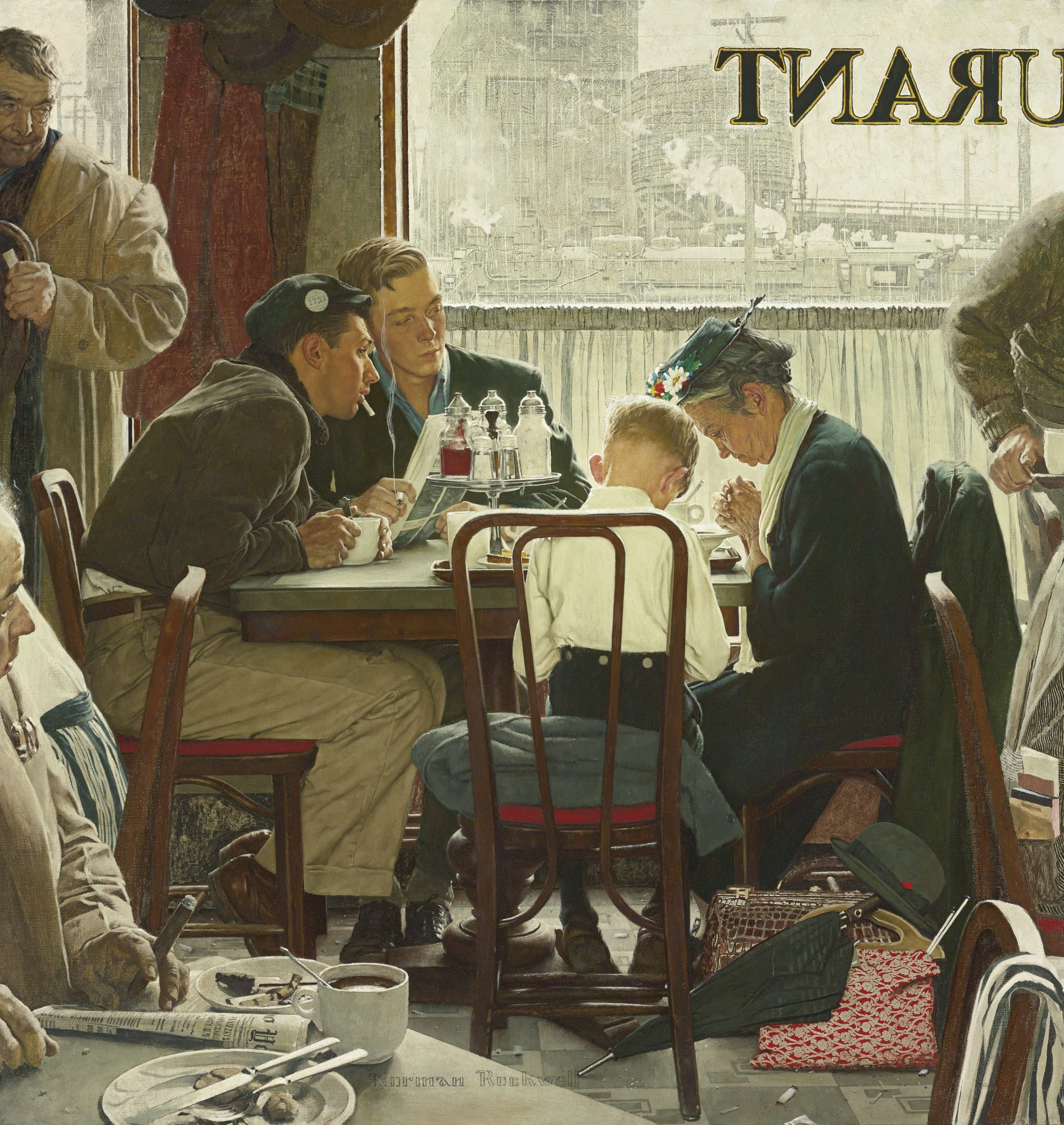 """Saying grace"" di Norman Rockwell a 46 mio$ da Sotheby's"