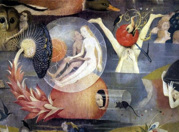 The Garden of Earthly Delight, dettaglio (Hieronymus Bosch, 1480-1490)