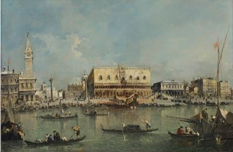 "Francesco Guardi (1712-1793), Venice, the Bacino di San Marco with the Piazzetta and the Doge""s Palace"