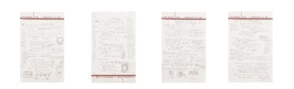 """Dylan, Bob, Original working autograph  manuscript with corrections, revisions and  additions, comprising the essential final draft  lyrics for """"Like a Rolling Stone."""" Est. $1-2 million"""