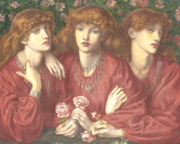 DANTE GABRIEL ROSSETTI (1828-1882) ROSA TRIPLEX: A TRIPLE PORTRAIT OF MAY MORRIS Estimate: £700,000 – £1,000,000 ($1,180,200 - $1,686,000)
