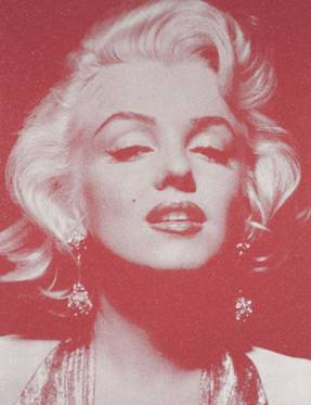 Russell Young, Marilyn Portrait, serigrafia