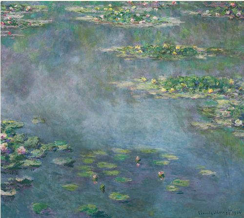 LOT 17 THE PROPERTY OF A DISTINGUISHED PRIVATE COLLECTION CLAUDE MONET 1840 - 1926 NYMPHÉAS signed Claude Monet and dated 1906 (lower right) oil on canvas 88.5 by 100cm. 34 3/4 by 39 3/8 in. Painted in 1906. Estimate 20,000,000 — 30,000,000 GBP Price realized: