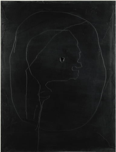 LUCIO FONTANA 1899 - 1968 CONCETTO SPAZIALE signed and titled oil on canvas 115.5 by 89cm.; 45 1/2 by 35in. Executed in 1961. Estimate    400,000 — 600,000 GBP