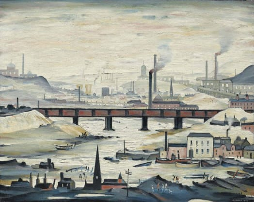 LAURENCE STEPHEN LOWRY, R.A. (1887-1976) INDUSTRIAL PANORAMA Estimate £1,500,000 – £2,500,000 ($2,521,500 - $4,202,500)