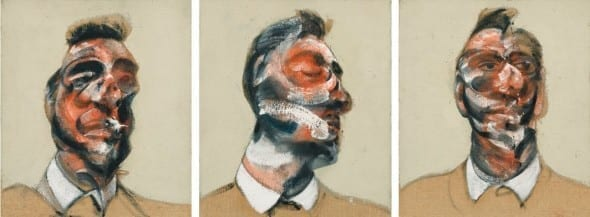 FRANCIS BACON 1909 - 1992 THREE STUDIES FOR PORTRAIT OF GEORGE DYER  Estimate  15,000,000 — 20,000,000 GBP Price realized: £26,6