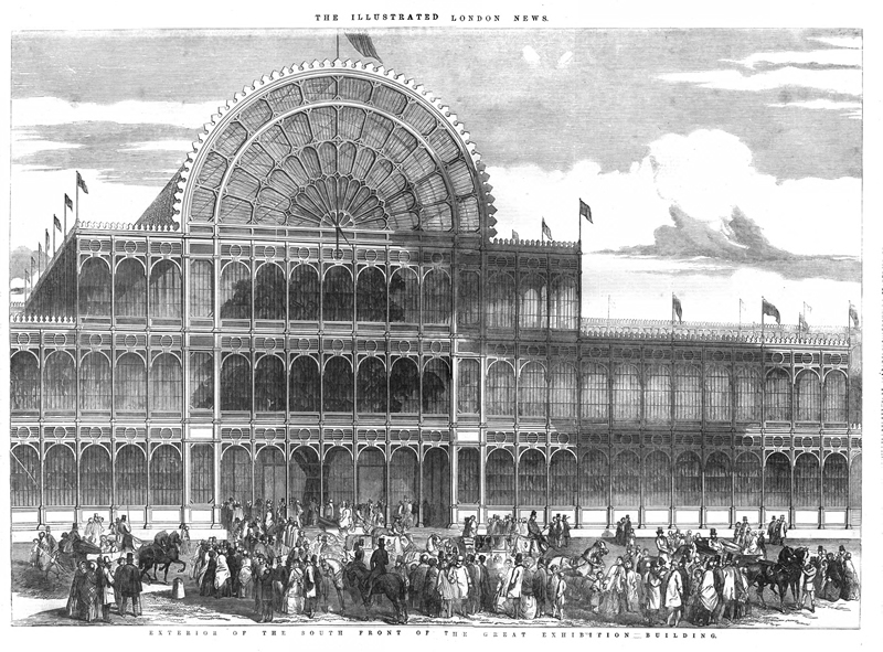 The Illustrated London News. Exterior of the great exhibition