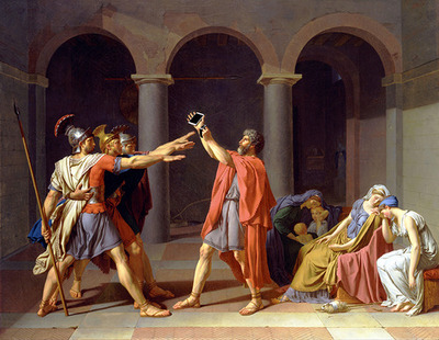'Wearable' after 'Oath of the Horatii' by Jacques-Louis David, 1784