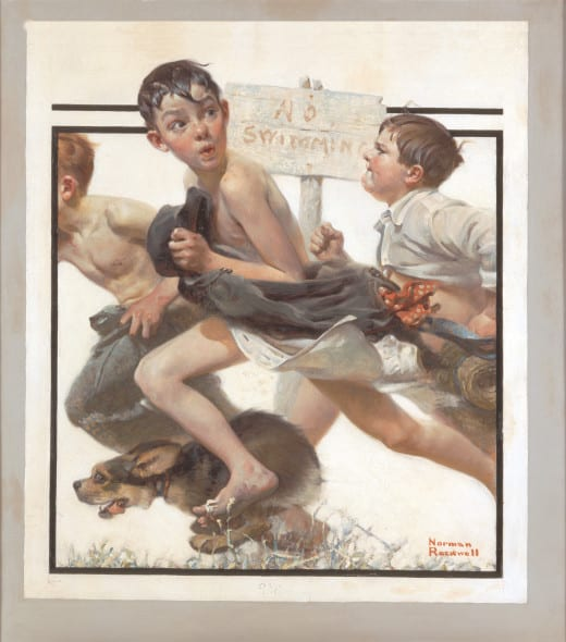 Norman-Rockwell-No Swimming