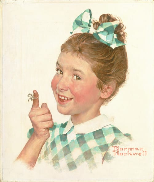 Norman-Rockwell-Girl with String