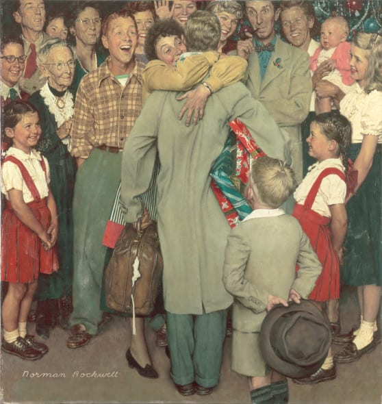 Norman-Rockwell-Christmas Homecoming