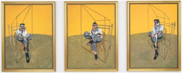 "Francis BACON, ""Three Studies of Lucian Freud""(1969)   Olio su tela, 198 cm x 147.5 cm Christie's, New York NY  , 11 Novembre 2013"