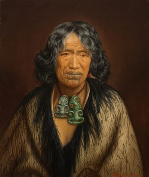 Gottfried Lindauer Kuinioroa, daughter of Rangi Kopinga – Te Rangi Pikinga, no date 61.4 x 51.4 cm, oil on canvas Auckland Art Gallery Toi o Tāmaki, gift of H. E. Partridge, 1915
