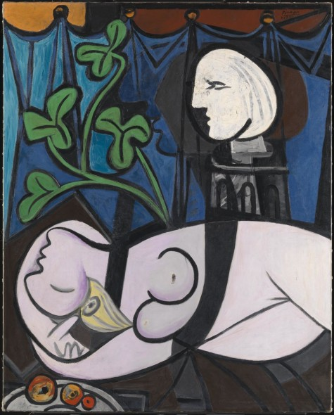 Picasso, Nude, Green leaves and Bust (also known as Nude with Sculptor's Turntable; Nu au plateau de sculpteur) 1932