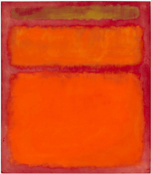 Christie's hold the world auction record for a work by Mark Rothko at $ 86,882,496, with Orange, Red, Yellow, 1961, sold in May 8, 2012