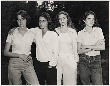 Nicholas Nixon, The Brown Sisters, 1975, New Canaan, Coon.