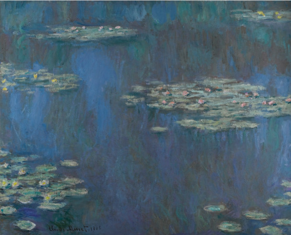 Claude Monet (1840 – 1926) NYMPHÉAS Oil on canvas 81 by 100.5 cm Painted in 1905 In asta a New York da Sotheby's il 5 maggio Stima: 30.000.000 – 45.000.000 dollari