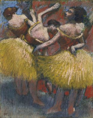 Edgar Degas (1834-1917), Trois danseuses, pastel on joined paper laid down on board, circa 1900 (estimate: $6-8million) –