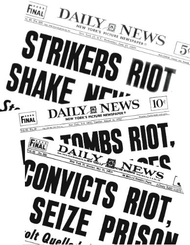 Assorted front pages of the Daily News Photo by NY Daily News Archive via Getty Images