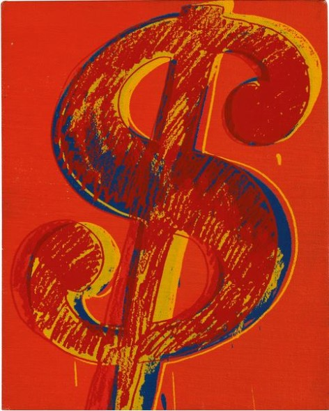 Lot 22 TO THE BEARER ON DEMAND: AN IMPORTANT PRIVATE EUROPEAN COLLECTION Andy Warhol DOLLAR SIGN Estimate   200,000 — 300,000  GBP Price Realized: £