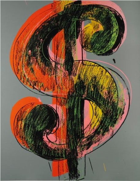 Lot 23 TO THE BEARER ON DEMAND: AN IMPORTANT PRIVATE EUROPEAN COLLECTION Andy Warhol DOLLAR SIGN Estimate   4,000,000 — 6,000,000  GBP Price Realized: £