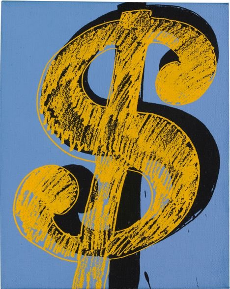 Lot 28 TO THE BEARER ON DEMAND: AN IMPORTANT PRIVATE EUROPEAN COLLECTION Andy Warhol DOLLAR SIGN  Estimate   200,000 — 300,000  GBP Price Realized: £