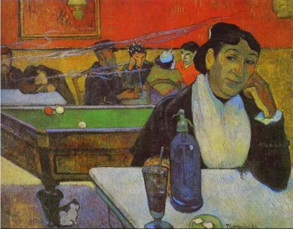 Paul Gauguin. Night Café at Arles. 1888. Oil on canvas. The Pushkin Museum of Fine Art, Moscow, Russia