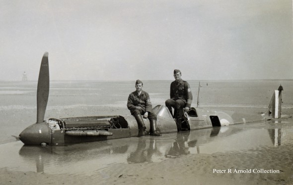 Calais Beach shortly after 24 May 1940 - Image credit  Peter R Arnold collection
