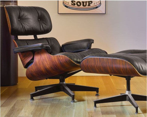 CHARLES AND RAY EAMES LOUNGE CHAIR, MODEL NO. 670, AND OTTOMAN, MODEL NO. 671
