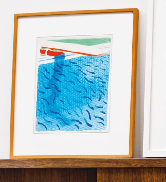DAVID HOCKNEY POOL MADE WITH PAPER BLUE INK FOR BOOK