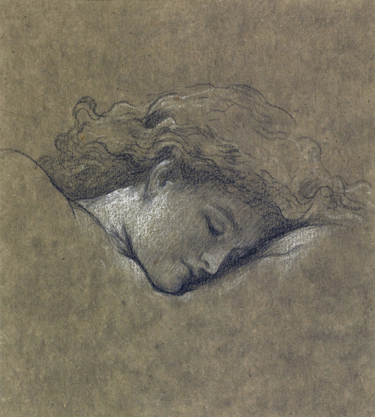 PROPERTY FROM THE ESTATE OF MARY, DUCHESS OF ROXBURGHE Frederic, Lord Leighton, P.R.A., R.W.S Study for Flaming June pencil and white chalk 22 by 20cm., 8¾ by 8in. Estimate £40,000 — 60,000 Sold for €237.700 (£167,000)