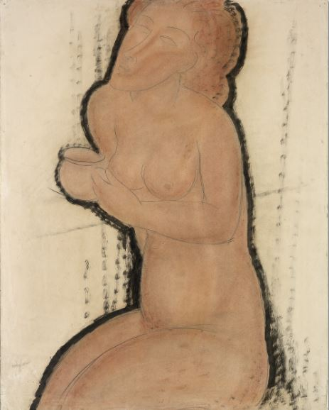 nude with cup