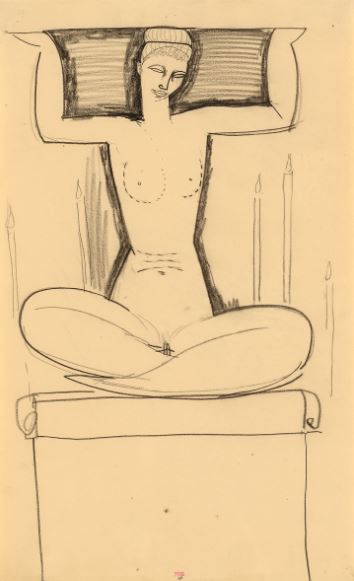 seated caryatid