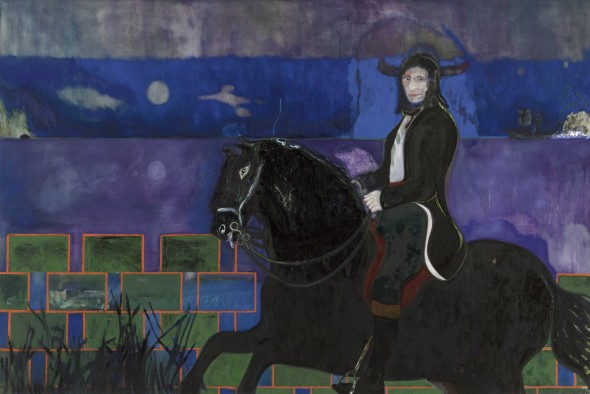 Horse and Rider, 2014 Oil and distemper on canvas / Olio e tempera su tela 240 x 360 cm