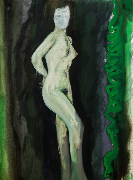 Nude (1959), 2015 Oil on paper / Olio su carta 76,5 x 56,5 cm