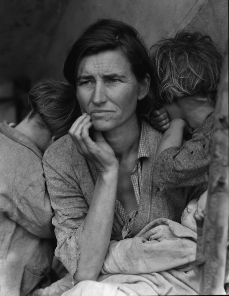 Dorothea Lange Migrant Mother, 1936 Altrotitolo: Destitute pea pickers in California. Mother of seven children. Age thirthy-two. Nipomo, California Stampafotografica The Library of Congress, Washington DC