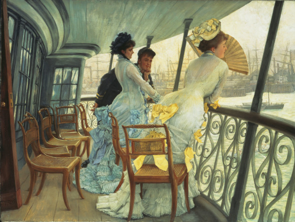 James Tissot, The Gallery of HSM Calcutta (Portsmouth), 1876 ca, Oil paint on canvas, UK, Londra, Tate - © Tate, London 2015