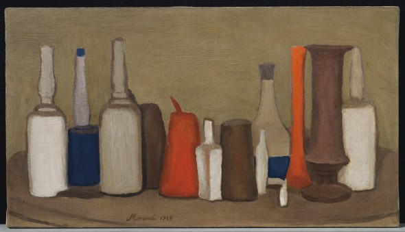 PROPERTY FROM AN IMPORTANT PRIVATE ITALIAN COLLECTION Giorgio Morandi (1890-1964) Natura morta signed and dated 'Morandi 1939' (lower left) oil on canvas 12 ⅝ x 22 ¼ in. (32 x 56.5 cm.) Painted in 1939 Stima: £1,800,000-2,500,000