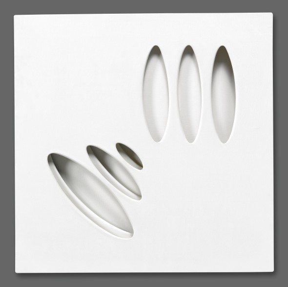 Paolo Scheggi INTERSUPERFICIE CURVA SIGNED AND DATED 1964 ON THE REVERSE, WHITE ACRYLIC ON THREE LAYERED CANVASES Estimate     260,000 — 360,000  EUR