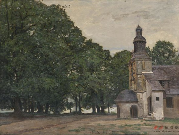 Claude Monet (1840-1926) The Chapel of Honfleur Oil on canvas Dated circa 1868