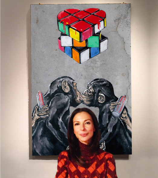 "#SELFIEADARTE ""The problems of puzzles are very near the problems of life"" #ErnoRubik  Love! @SimoneFugazzotto #Natiincattività #FondazioneMaimeri @CleliaPatella"