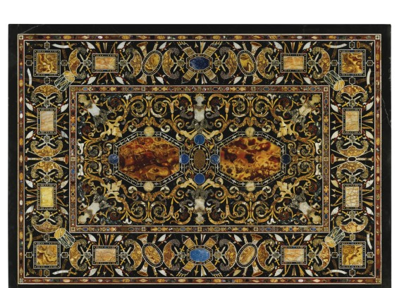 An Italian antique marble and pietre dure inlaid top Rome, last quarter 16th century Estimate     300,000 — 500,000  GBP  LOT SOLD. 1,625,000 GBP