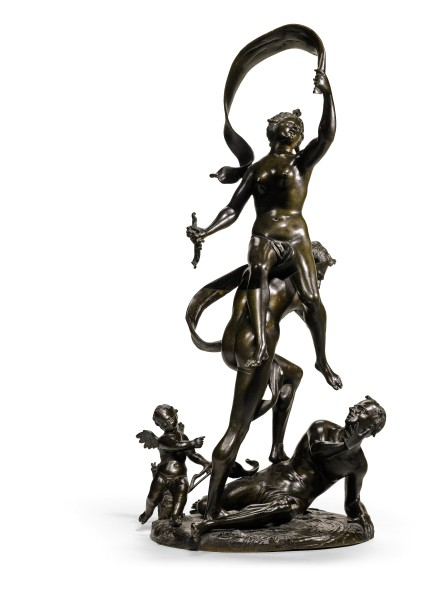 LOT 60 FRANCESCO BERTOS (1678-1741) ITALIAN, VENICE, FIRST HALF 18TH CENTURY ALLEGORY OF FORTUNE bronze ESTIMATE 10,000-15,000 GBP