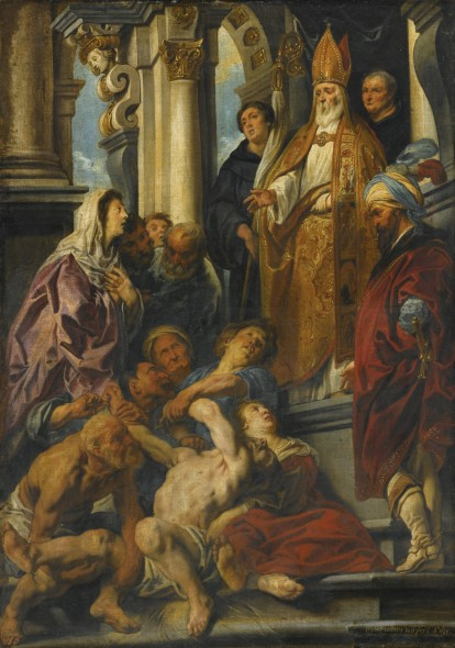 Jacob Jordaens ANTWERP 1593 - 1678 SAINT MARTIN HEALING THE POSSESSED MAN signed and dated lower right: iacobvs iordaens in et pinxit Ao 1630 oil on canvas  122.5 by 87.5 cm. Estimate  4,000,000 — 6,000,000  USD