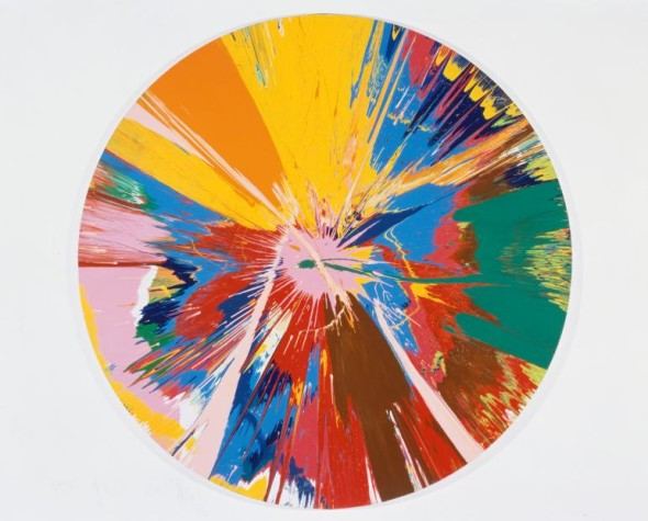 Damien Hirst, Beautiful, shattering, slashing, violent, pinky, hacking, sphincter painting (1995). Photo: courtesy of White Cube © Damien Hirst and Science Ltd. All rights reserved, DACS 2012.