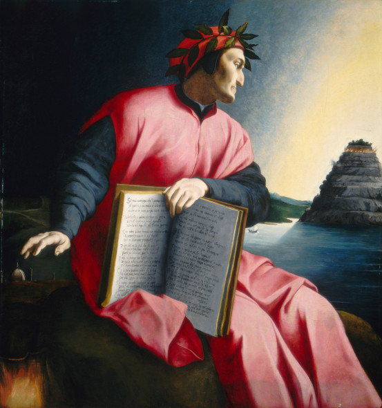 Florentine 16th Century, Allegorical Portrait of Dante, , late 16th century, oil on panel, Samuel H. Kress Collection