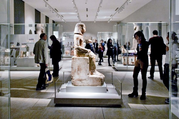 The renovated Egyptian Museum in Turin. Andrea Wyner for The New York Times
