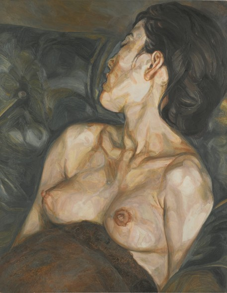 Lucian Freud 1922 - 2011 PREGNANT GIRL  oil on canvas 91.4 by 71.4cm.; 36 by 28 1/8 in. Executed in 1960-61.